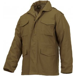 Rothco Mens M-65 Field Jacket - Coyote Brown - Size S - XL Front View